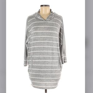 Market & Spruce Pullover Hoodie Grey White Small